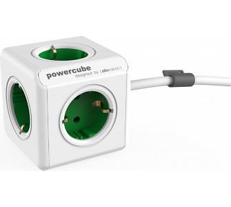 Allocacoc PowerCube Extended Grün EU, 5x Steckdose und Verteiler, 230