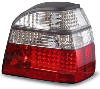 JOM LED Rückleuchten geeignet für VW Golf 3 und Cabrio, in Rot Weiß VW