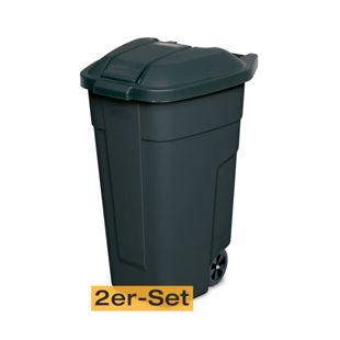 BRB Mülltonne 100 Liter VE: 2 Stück, anthrazit/anthrazit