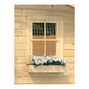 Karibu Dreh-/Kippefenster für 28 mm, natur für Garten- und Gerätehäuser