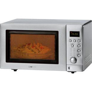 Clatronic MWG 779 H Mikrowelle mit Doppelgrill und Heißluft, inkl. Pizzastein