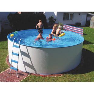 KWAD Stahlwandbecken-Set Steely-Set Oval de luxe 4,9 x 3,6 x 1,2 m