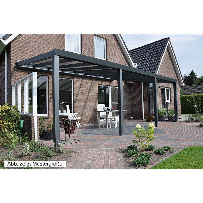 vp trading terrassen berdachung 400 x 400 aus aluminium inkl statik und vsg glas eindeckung. Black Bedroom Furniture Sets. Home Design Ideas