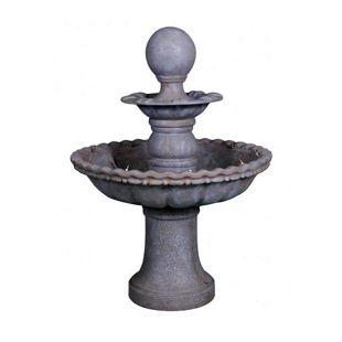 Garden Pleasure Brunnen 2-stöckig mit Kugel