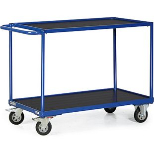 Protaurus TAUROFLEX Tischwagen 250 kg mit 2 Ladeflächen und waagerechtem Schiebegriff,  85 x 50 cm