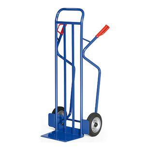 Protaurus Stahlrohr-Stapelkarre für Lasten bis 350 kg - Gummibereifung