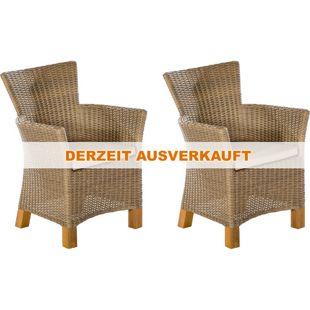 Merxx Lounge Sessel Toskana 2er Set, natur