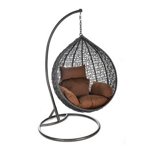 Home Deluxe Cielo Polyrattan Hängesessel mit Gestell
