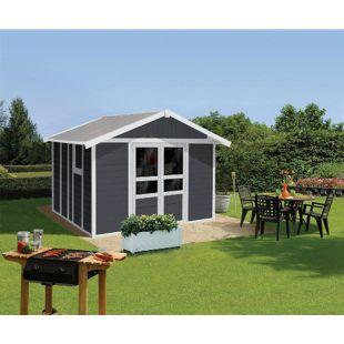 Grosfillex Kunststoff-Gerätehaus Basic Home 11, grau