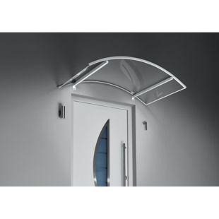 Gutta Bogenvordach mit LED-Technik, 150 x 90 cm, weiß