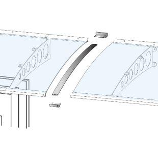 Gutta Verbindungsset für Vordach Edelstahl-Optik