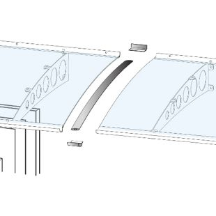 Gutta Verbindungsset für Vordach silbereloxiert