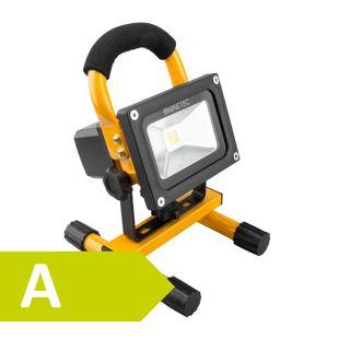 NINETEC 10 W LED-Akku-Flutlichtstrahler, gelb