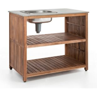 Premio Living Garden Kitchen Outdoorspüle, 100 x 90 x 60 cm