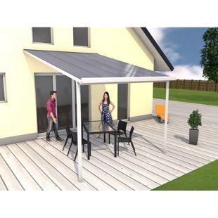 Gutta 4293112 Terrassenüberdachung weiß, 306 x 406 cm