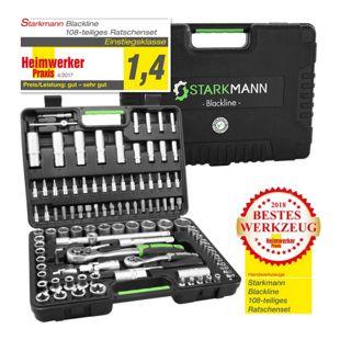 Starkmann Blackline Premium Ratschenkasten, 108-tlg.