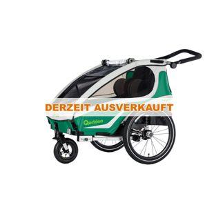 Qeridoo Kidgoo2 Fahrradanhänger Modell 2018 grün