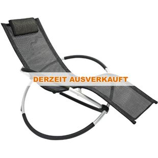 Leco Schaukelstuhl - Alu-Gestell, schwarz