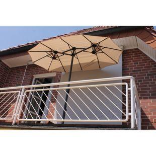Leco Balkon-Ovalschirm, natur
