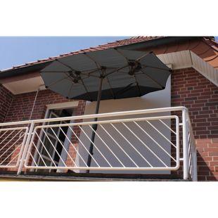 Leco Balkon-Ovalschirm, anthrazit
