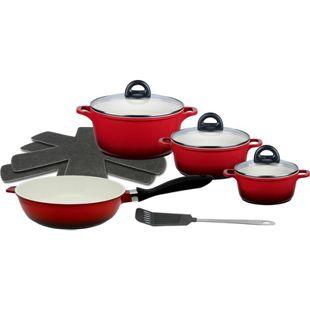 Meine Küche Aluguss Topfset Red Shadow, 7-teilig