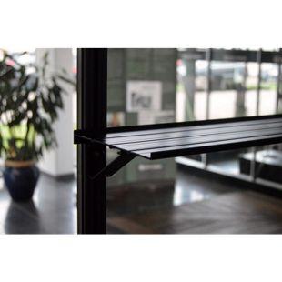 Juliana Alu-Regal schwarz 150 x 15 cm inkl. Halter