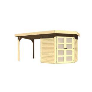Karibu Gerätehaus Kolm 3 Set 2, naturbelassen