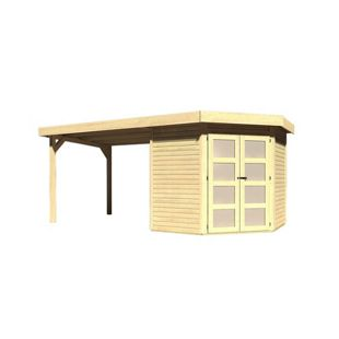 Karibu Gerätehaus Kolm 3 Set 4, naturbelassen