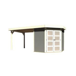 Karibu Gerätehaus Kolm 3 Set 4, terragrau