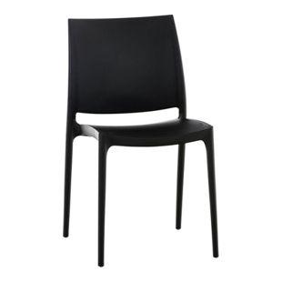 CLP XXL-Küchenstuhl MAYA I Wetterbeständiger Stapelstuhl bis zu 160 kg belastbar I In verschiedenen Farben erhältlich