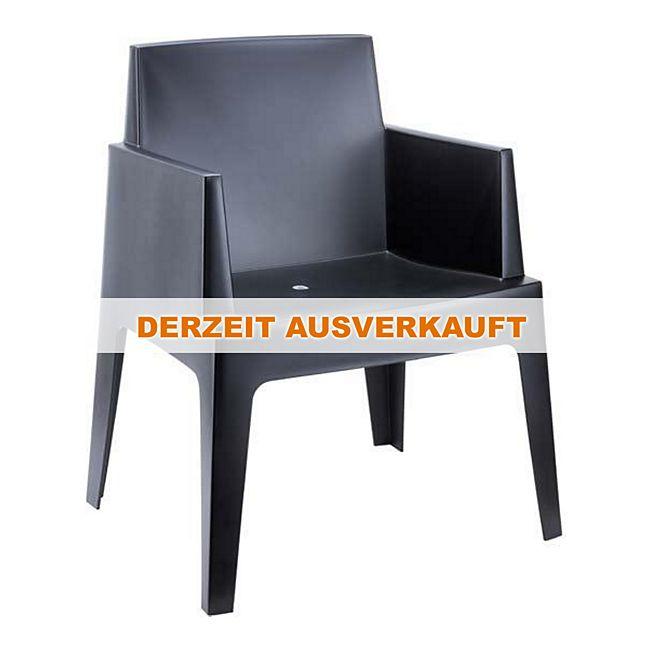 clp xxl gartenstuhl box aus kunststoff i xxl bistrostuhl mit einer max belastbarkeit von 160. Black Bedroom Furniture Sets. Home Design Ideas