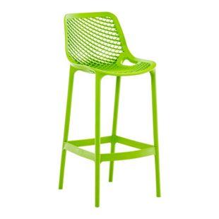 CLP Barhocker AIR aus pflegeleichtem Kunststoff I Wetterbeständiger Tresenstuhl I Barstuhl mit Fußstütze und einer Sitzhöhe von: 75 cm I In verschiedenen Farben erhältlich