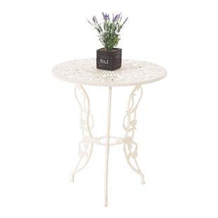 CLP Aluminiumtisch GANESHA im Jugendstil I Gartentisch mit kunstvoll verzierten Standbeinen I In verschiedenen Farben erhältlich
