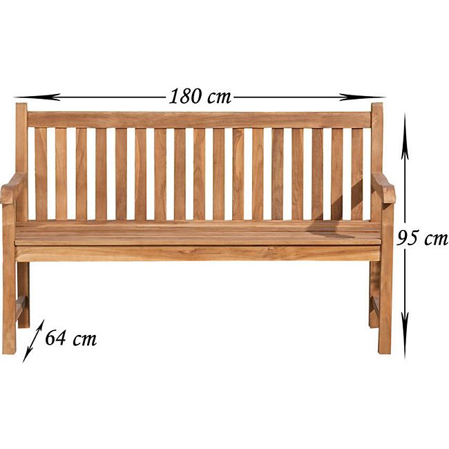 clp teakholz gartenbank calypso mit lehne i holzbank f r den garten i sitzbank mit armlehnen i. Black Bedroom Furniture Sets. Home Design Ideas