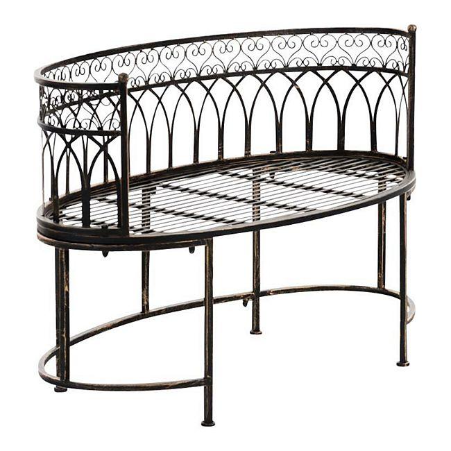 clp eisen gartenbank amanti mit armlehne i ovale sitzbank f r zwei bis drei personen i outdoor. Black Bedroom Furniture Sets. Home Design Ideas