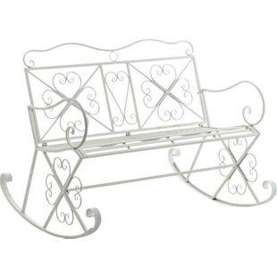 CLP 2er-Schaukelbank SILLY aus Eisen I Gartenbank im Landhausstil I Eisenbank mit hoher Rückenlehne I In verschiedenen Farben erhältlich
