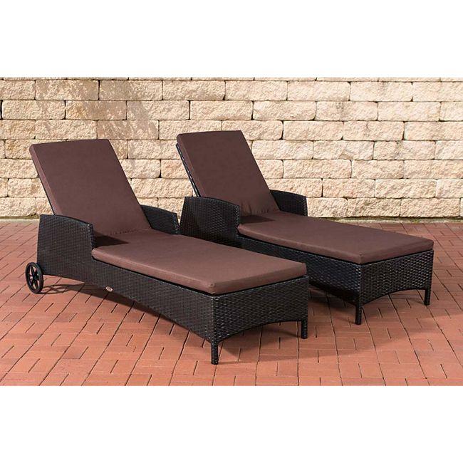 clp 2x polyrattan sonnenliege turin i wellnessliege mit laufrollen i sonnenliege mit. Black Bedroom Furniture Sets. Home Design Ideas