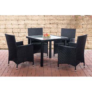 CLP Balkon Sitzgruppe RIO aus Polyrattan   Outdoor-Möbel für Balkon und Terrasse   Wetterfester Tisch mit Stühlen   In verschiedenen Farben erhältlich
