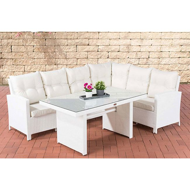 clp polyrattan gartenlounge minari i garten set 1x 3er sofa 1x eckbank mit sitzpolster 1x. Black Bedroom Furniture Sets. Home Design Ideas