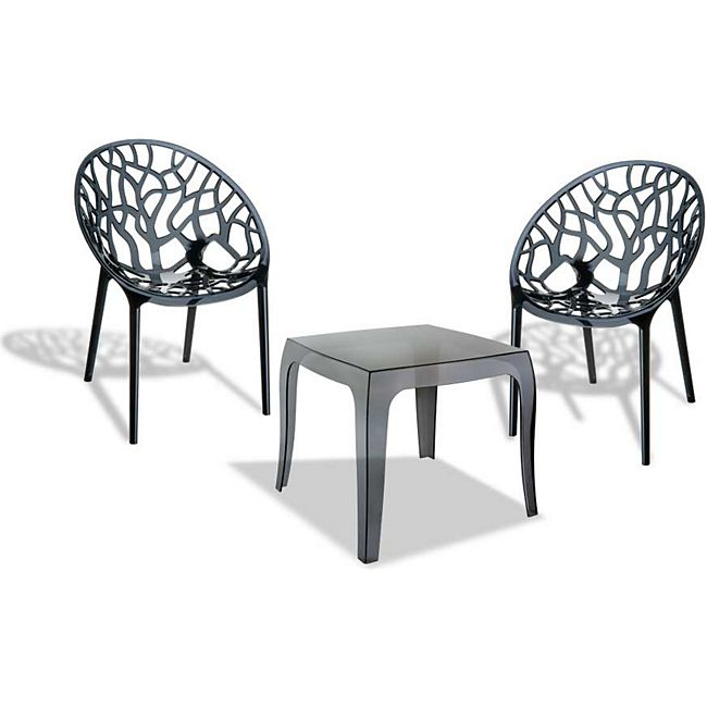 CLP Outdoor-Sitzgruppe ARENDAL   2 stapelbare Stühle und 1 ...