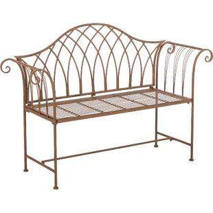 CLP Gartenbank JAMEE aus lackiertem Eisen I Sitzbank im Jugendstil I Eisenbank mit 2-3 Sitzplätzen I In verschiedenen Farben erhältlich