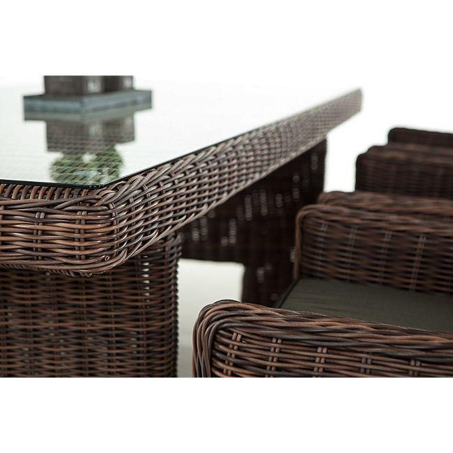 clp polyrattan sitzgruppe sandnes inklusive polsterauflagen garten set bestehend aus einem. Black Bedroom Furniture Sets. Home Design Ideas
