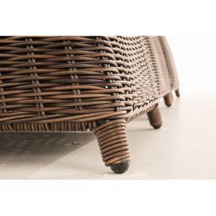 CLP Polyrattan-Sitzgruppe CANDELA XL inklusive Polsterauflagen | Garten-Set mit acht Stühlen und Esstisch