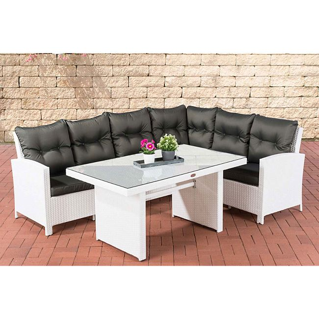 clp polyrattan gartenlounge minari i garten set mit 6 sitzpl tzen i komplett set bestehend aus. Black Bedroom Furniture Sets. Home Design Ideas