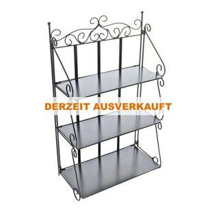 CLP Eisen-Standregal WALLY   Klappregal mit 3 Ablagefächern im Landhausstil   In verschiedenen Farben erhältlich