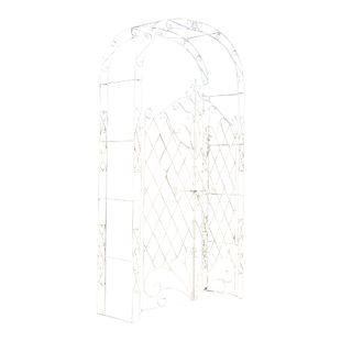 CLP Eisen Rosenbogen MELISSA mit Tor / Tür, Doppeltor Höhe 150 cm, Maße gesamt: Breite 120 cm, Höhe 220 cm, Tiefe 40 cm