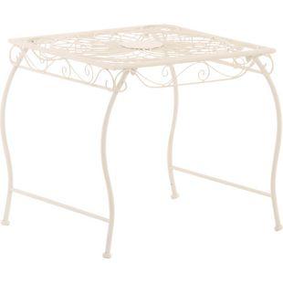CLP Eisentisch ZARINA in nostalgischem Design I Robuster Gartentisch mit kunstvollen Verzierungen