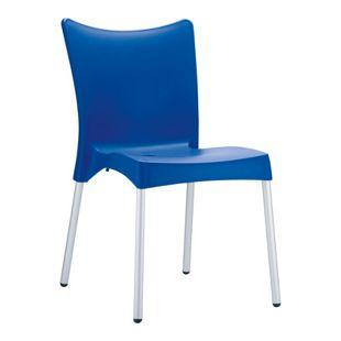 CLP XXL-Gartenstuhl JULIETTE I Stapelstuhl mit Kunststoffsitz und Aluminiumgestell I Outdoor-Stuhl bis zu 160 kg belastbar I In verschiedenen Farben erhältlich