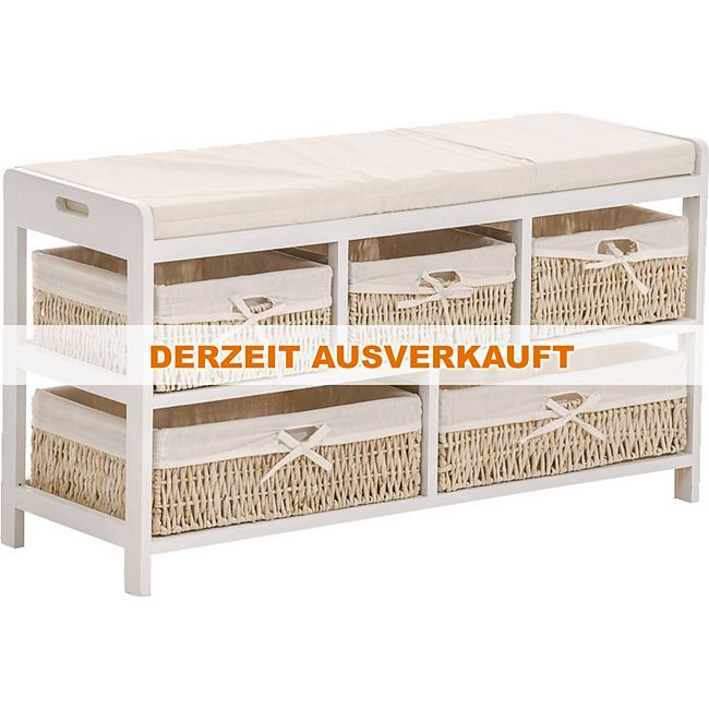 clp holz sitzbank devin truhenbank mit sitzpolsterung. Black Bedroom Furniture Sets. Home Design Ideas