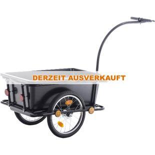 CLP Fahrradanhänger LENNY I Lastenanhänger mit Sicherheitsdrehkupplung & Deichsel I Transportanhänger mit Reflektoren